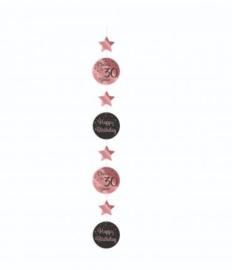 HANGING DECORATION ROSE/ZWART - 30