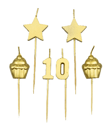 PARTY CAKE CANDLES - 10