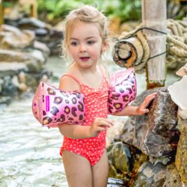 Zwembandjes | Panter rosé goud