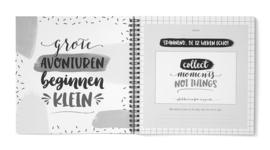 Zwangerschapsdagboek Invulboek Zwanger 9 Maanden // Zwart Wit