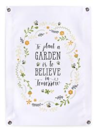 Tuinposter Buiten Bloemenkrans 50x70 // To Plant A Garden