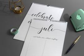 Verjaardagskalender Zwart Wit // Minimalistisch Quotes