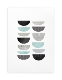 Poster Grafisch A4 // Minimalistisch Abstract