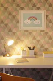 Poster Babykamer A4 // Wolkjes Wit Regenboog