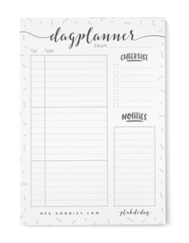 Dagplanner Papier A5 Zwart Wit // Notitieblok To Do Planner