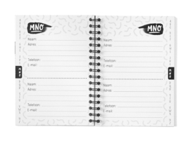 Adresboekje Met Alfabet A6 // Zwart Wit