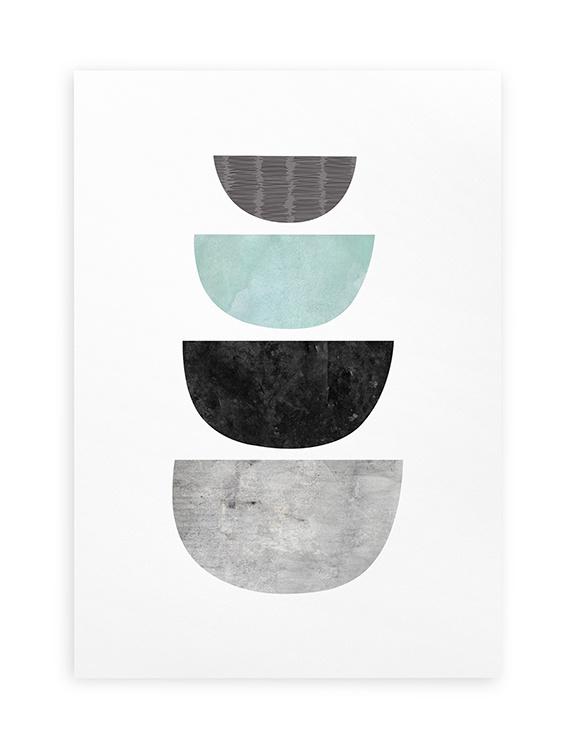 Poster Grafisch A4 // Abstract Geometrisch