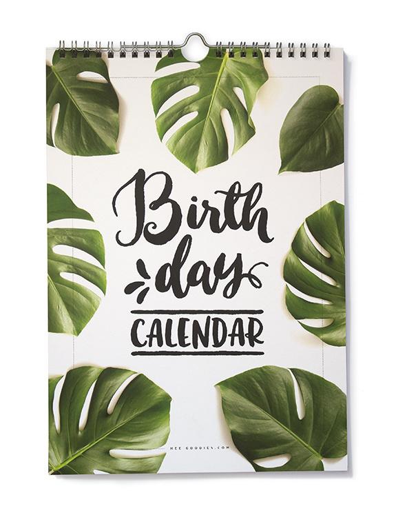 Verjaardagskalender Botanisch // Tropische Bladeren Quotes
