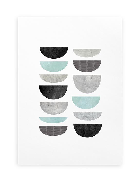 Poster Grafisch A4 // Minimalistisch Abstract