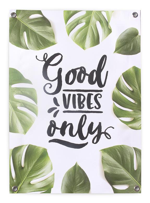Tuinposter Tekst Botanisch 50x70 // Good Vibes Only