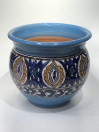 Bloempot, turquoise, 30x30 cm