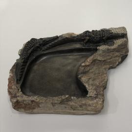 Waterbak voor vogels, krokos, serpentijn, 25 x 20 cm