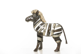 Metal zebra small 28 cm high