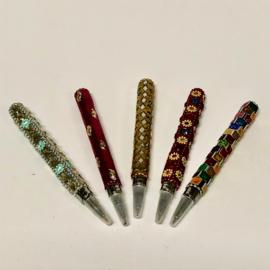 Pen met kralenwerk (per stuk)
