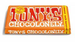 Tony's Chocolonely Melk Karamel Zeezout 180 g