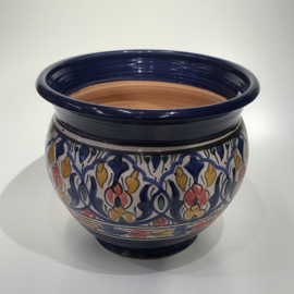 Bloempot, donkerblauw, 30x30 cm