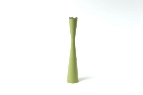 Candleholder wood sandglass 25 cm olive