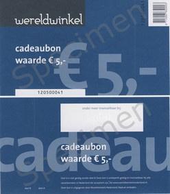 Cadeaubon € 5,-, € 10.- of € 15,-