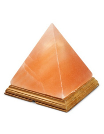 Zoutsteen lamp piramide incl. elektra