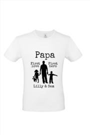 Papa met namen van de kinderen