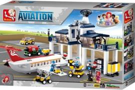De Vliegtuigwerkplaats met Verkeerstoren