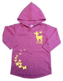 Hoodie met hert en vlinders