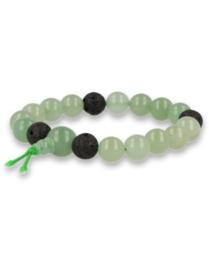 Aventurijn groen powerbead mannen armband, 21 cm