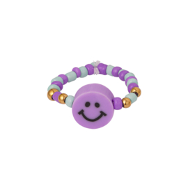 Smiley Ring   Perfect Purple