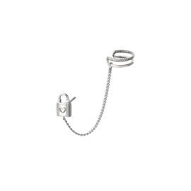 Oorbel met Earcuff Lock| Zilver