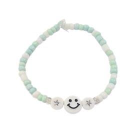 Smiley handmade armbandje