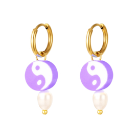 Oorbel Yin Yang | Purple