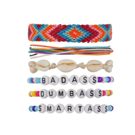 """BADASS"" armbanden set"