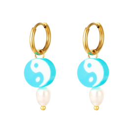 Oorbel Yin Yang | Aqua
