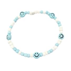 Smiley trend armbandje| Blue
