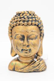 Backflow Wierookbrander Boeddha Hoofd (Brons)