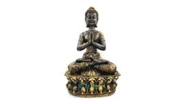 Tibetaanse Boeddha (zwart/goud)