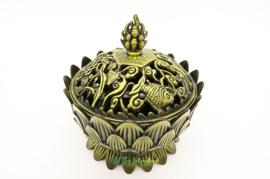 Wierookbrander Tibetaanse Lotus Groot (Brons)
