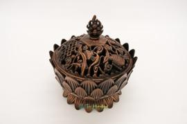 Wierookbrander Tibetaanse Lotus Groot (Rood)