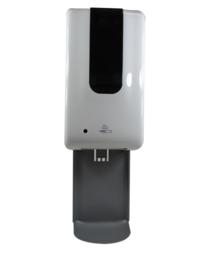 Automatische Desinfectie Zuil - 1200ml - Zilver - Automatic Dispenser - Incl. Opvang/lekbak - Contactloos - Geschikt voor Vloeistof/Alcohol – Overal te plaatsen - Modern design - DDC.7A