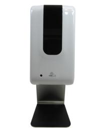 Automatische Desinfectie Dispenser RVS tafelmodel - 1200ml - Incl. Opvang/lekbak - Contactloos - Geschikt voor Vloeistof/Alcohol – (Ver)Plaatsbaar op tafel, balie/toonbank - DDC.4A