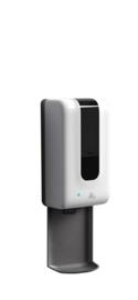 Automatische Desinfectie Dispenser - 1200ml - Incl. Opvang/lekbak - Contactloos - Geschikt voor Vloeistof/Alcohol - Ophangen aan Muur/Wand of Paal/zuil - Modern design - DDC.1A