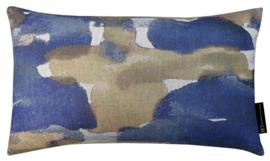 Sierkussen Drifting Blauw/Goud 50x30cm