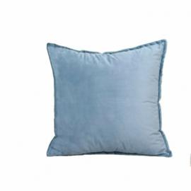 Sierkussen Luxury Velvet Light Blauw 45x45cm