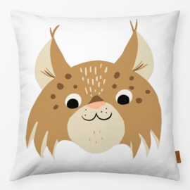 Kinderkussen Grappige Lynx Bruin/Wit