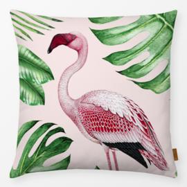 Sierkussen Jungle Flamingo Roze/Groen