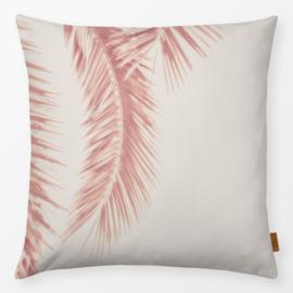Sierkussen Rose Palm Leaves Roze/Beige