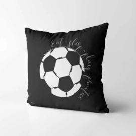 Kinderkussen Voetbal Zwart/Wit 40x40cm
