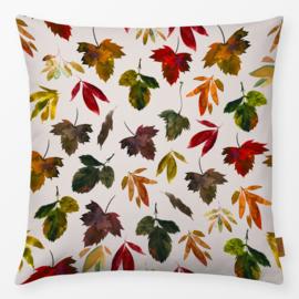 Sierkussen Blad Herfst Beige/Multikleur
