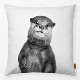 Sierkussen Otter Grijs