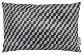 Sierkussen Pure Adali Wit/Zwart 60x40cm